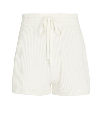 Minnie Knit Wool-Cashmere Shorts, IVORY, hi-res