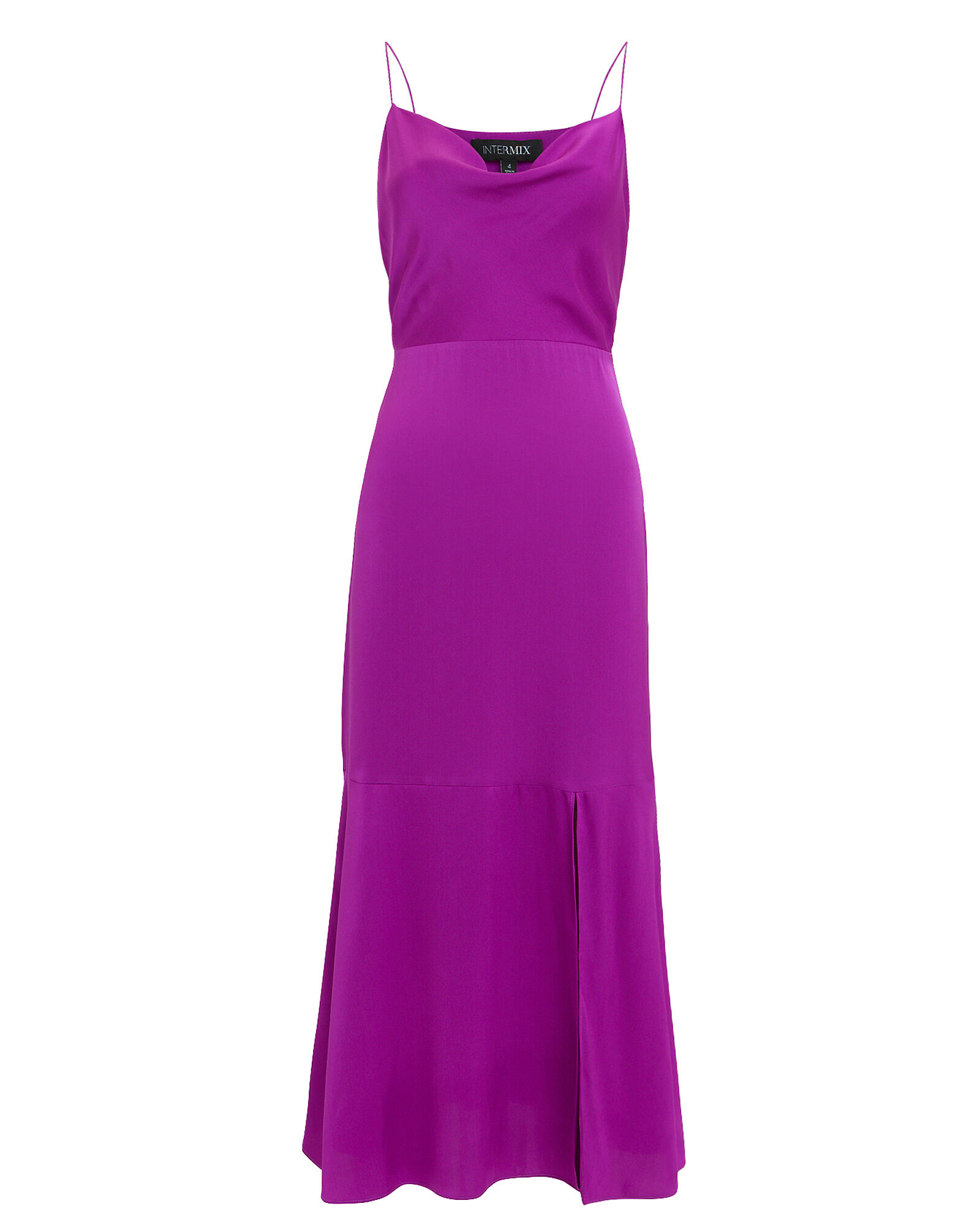 Paris Silk Slip Dress, PURPLE, hi-res