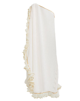 Tekomkaf Ruffled One-Shoulder Dress, WHITE, hi-res