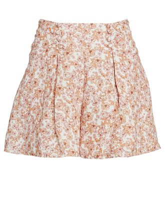 Maria High-Rise Floral Shorts, MULTI, hi-res