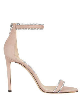 Dochas Crystal Embellished Sandals, BLUSH, hi-res