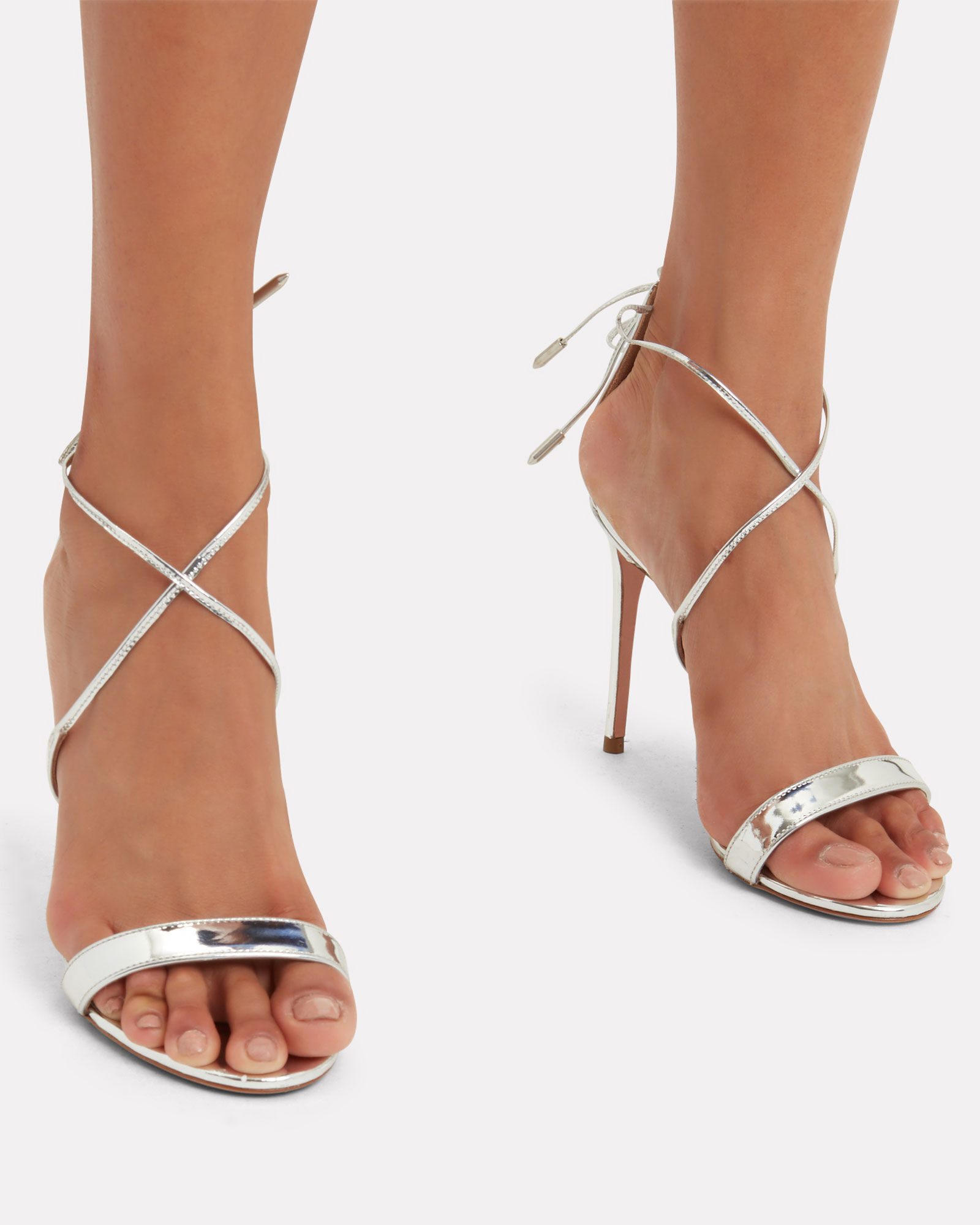 Linda Strappy Sandals, SILVER, hi-res