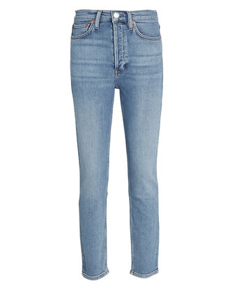 High-Rise Ankle Crop Jeans, DENIM-LT, hi-res