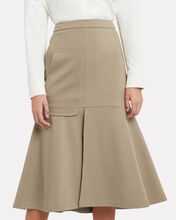 Bond Stretch Knit Skirt, OATMEAL, hi-res