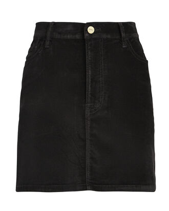 Le Mini Velveteen Skirt, BLACK, hi-res