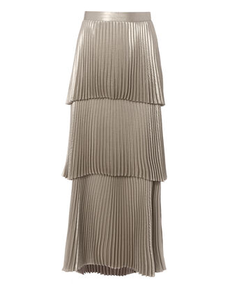 Harley Metallic Maxi Skirt, METALLIC, hi-res