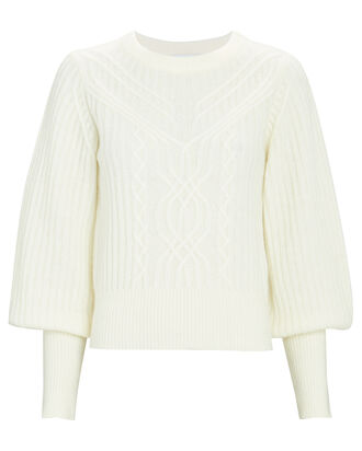 Tate Wool-Blend Sweater, IVORY, hi-res