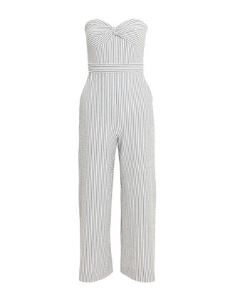 Serild Strapless Seersucker Jumpsuit, GREY-LT, hi-res