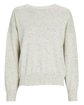 Cara Relaxed Cotton Sweater, BONE, hi-res