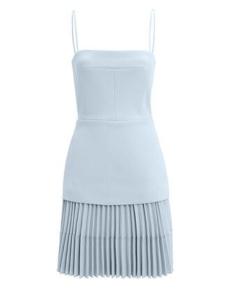 Ellipse Pleated Mini Dress, PALE BLUE, hi-res