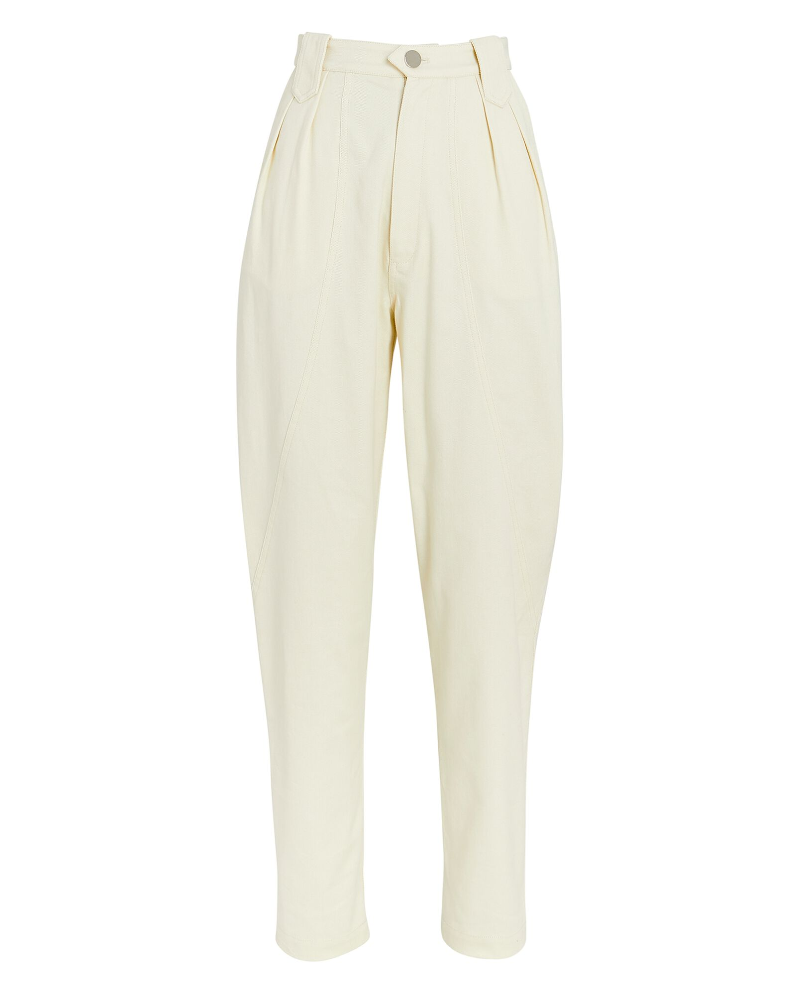 Tapered High-Rise Jeans, OATMEAL, hi-res