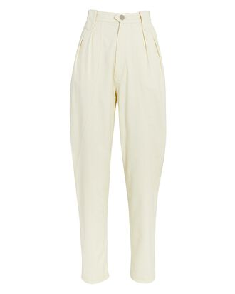 Tapered High-Rise Jeans, IVORY, hi-res
