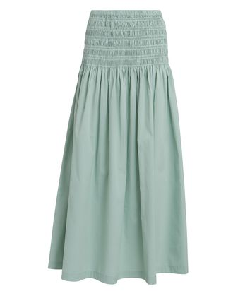 Sunday Ruched Maxi Skirt, GREEN-LT, hi-res