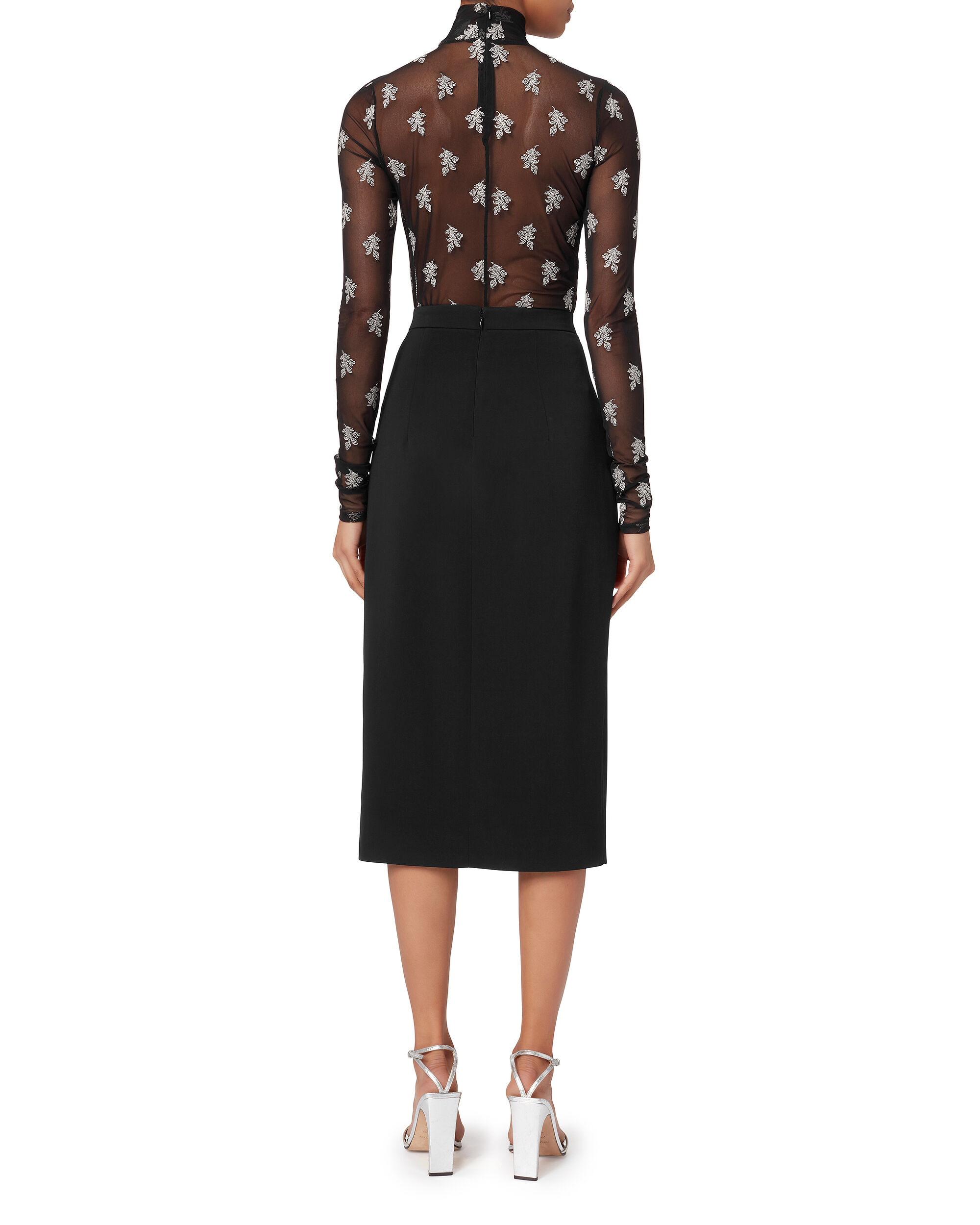 Dahlia High-Waist Pencil Skirt, BLACK, hi-res