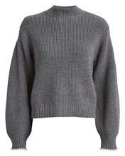 Charlotte Pearl-Trimmed Sweater, GREY, hi-res