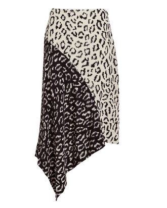 Natalie Two-Tone Leopard Skirt, BLACK/WHITE LEOPARD, hi-res