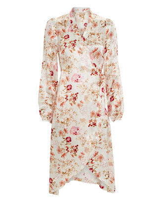 Floral Wrap Dress, MULTI, hi-res