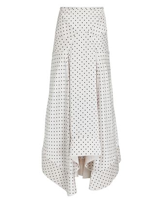 Palmera Asymmetrical Polka Dot Skirt, WHITE/BLACK, hi-res