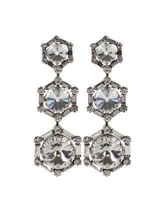 Bells Crystal Drop Earrings, CLEAR, hi-res
