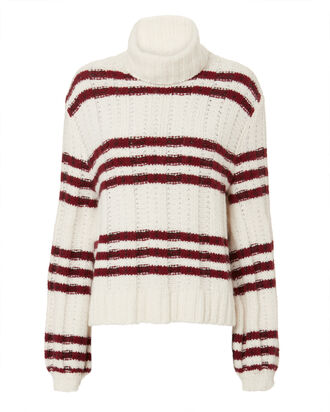 Zaira Striped Turtleneck, WHITE/RED, hi-res