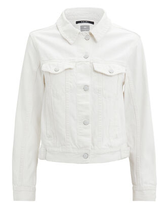 Classic Powder White Denim Jacket, WHITE DENIM, hi-res