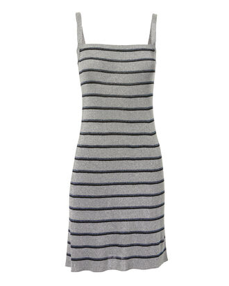 Lurex Stripe Mini Dress, SILVER, hi-res