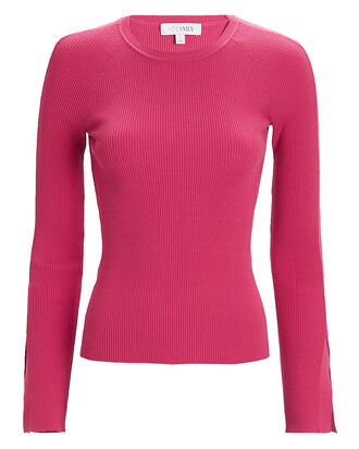 Ellie Knit Crewneck Top, PINK, hi-res