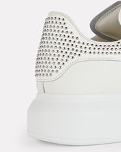 Oversized Leather Studded Sneakers, WHITE, hi-res