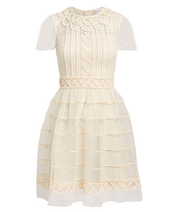 Classic Tulle Mini Dress, IVORY, hi-res