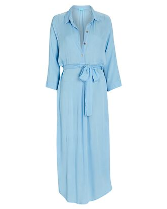 Alesha Midi Shirt Dress, BLUE, hi-res