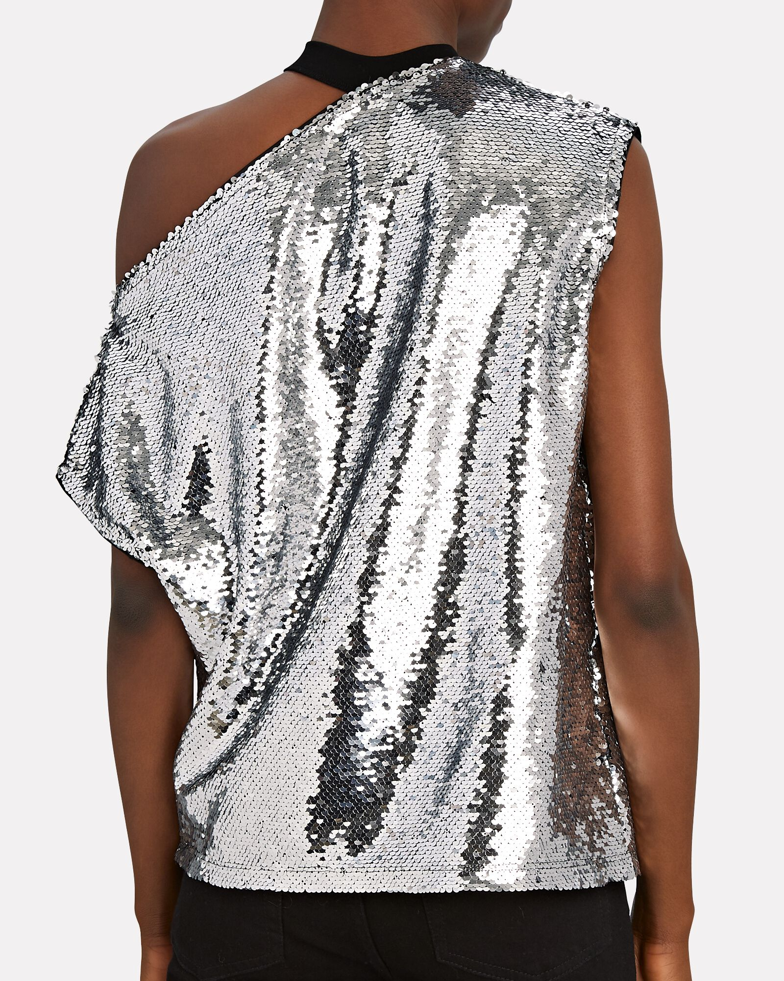 Axel Sequin Cut-Out T-Shirt, SILVER, hi-res