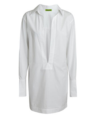 Sparta Cotton Shirt Dress, WHITE, hi-res