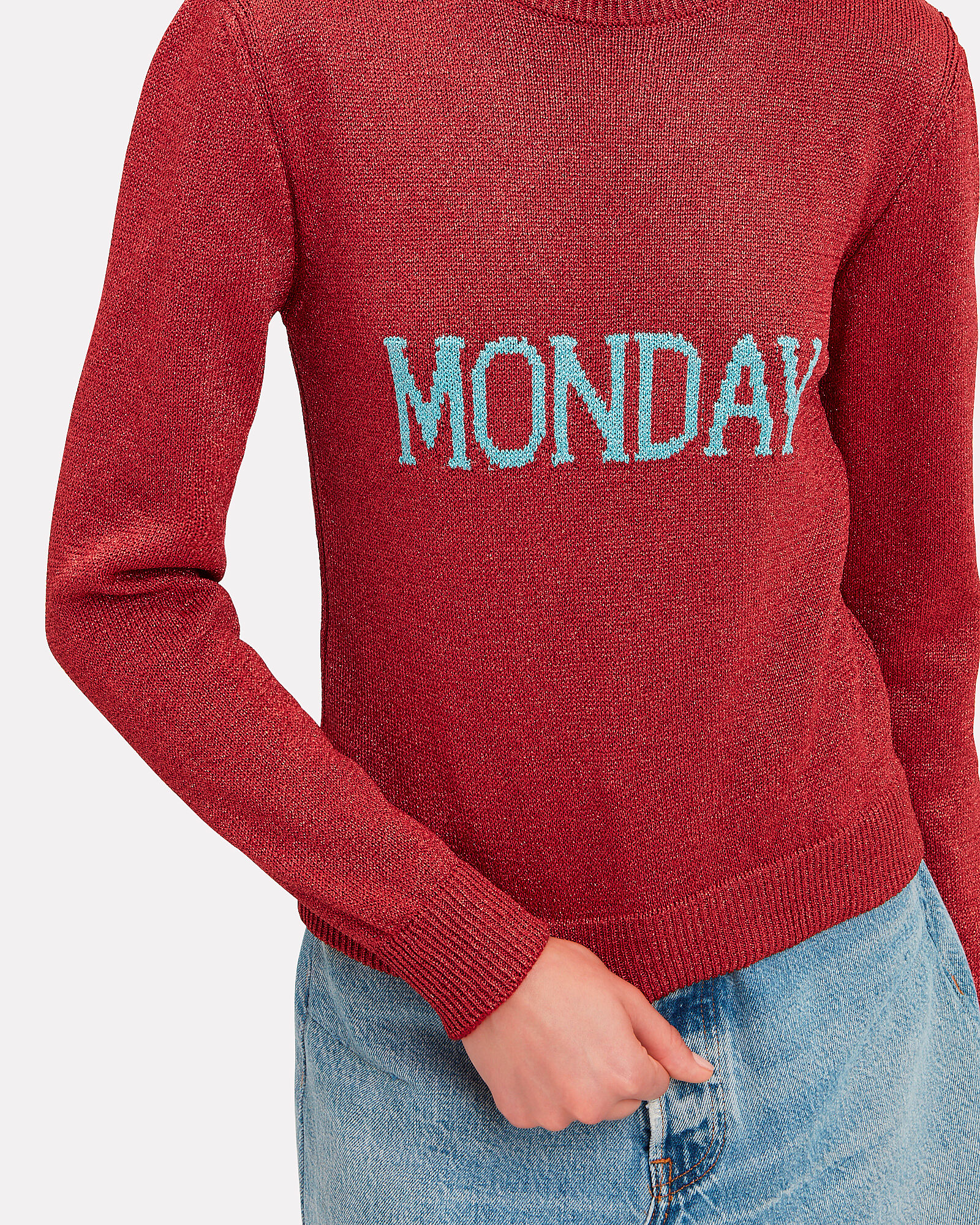 Monday Sweater, RED, hi-res