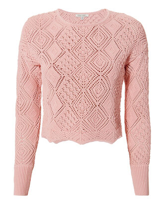Avia Knit Top, PINK, hi-res