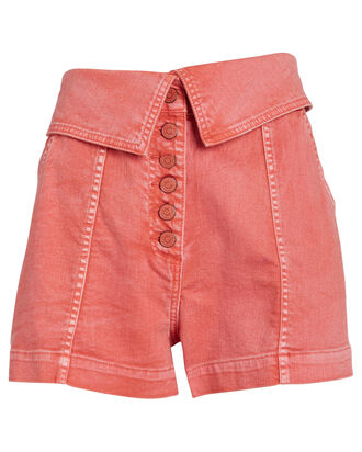 Kase Denim Shorts, CORAL, hi-res