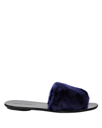 Isabel Slide Flat Navy Sandals, , hi-res