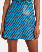 Libby Striped Sequined Mini Skirt, BLUE-MED, hi-res