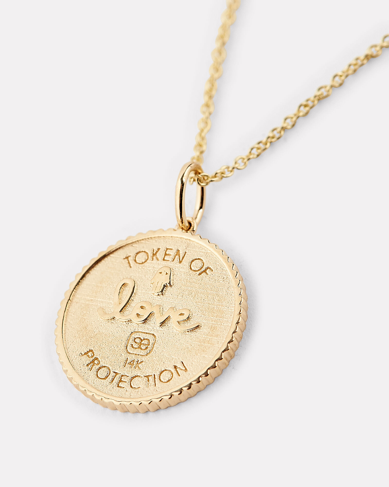 Love Token Charm Necklace, GOLD, hi-res