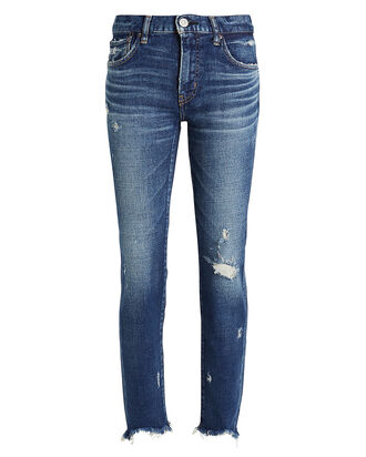 Glendele Distressed Skinny Jeans, MEDIUM WASH DENIM, hi-res