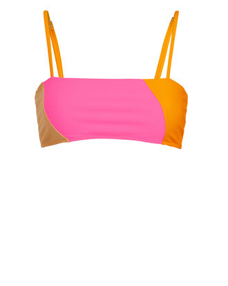 Lauren Colorblocked Bikini Top, PINK/ORANGE, hi-res