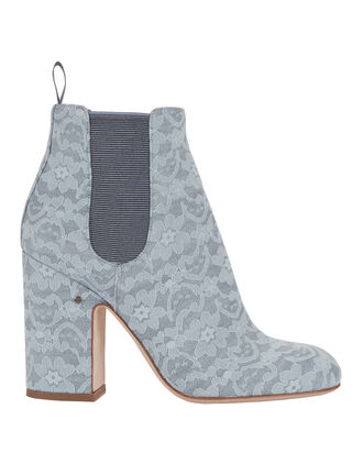 Mila Lace Booties, BLUE, hi-res