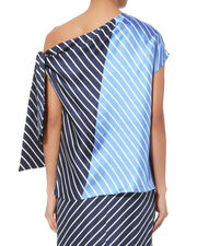 Delphina Asymmetrical Tie Top, STRIPE, hi-res