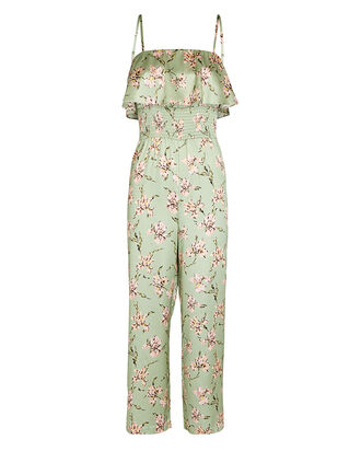 Eliza Silk Printed Jumpsuit, MULTI, hi-res