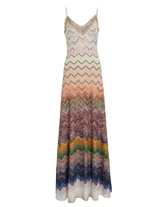Ombré Knit Chevron Slip Dress, MULTI, hi-res