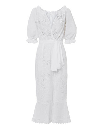 Olivia Midi Dress, WHITE, hi-res