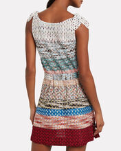 Colorblock Knit Tie Waist Dress, RAINBOW/DOT, hi-res