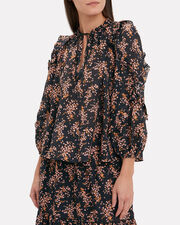 Manet Jet Blouse, BLACK/FLORAL, hi-res