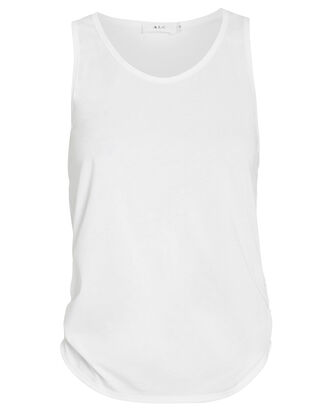 Calven Tie-Back Tank Top, WHITE, hi-res