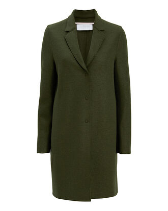 Olive Cocoon Coat, OLIVE/ARMY, hi-res