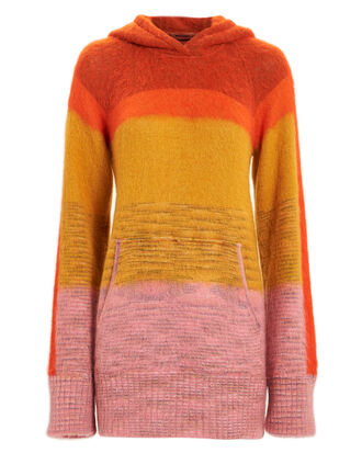 Striped Mohair Hoodie, MULTI, hi-res